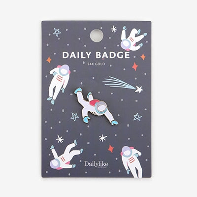 Daily Badge Space Man Pin By Dailylike