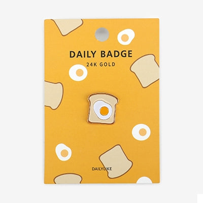 Daily Badge Egg Toast Pin By Dailylike