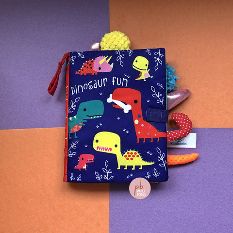 Dinosaur Fun Tail Cloth Baby Book
