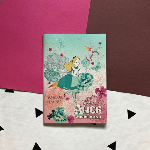 Disney Alice In Wonderland Schedule Planner Book