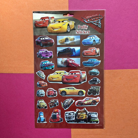 Disney Cars Puffy Stickers