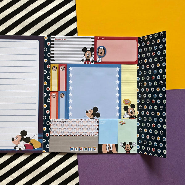 Disney Mickey Mouse Message Sticky Notes & Writing Pad