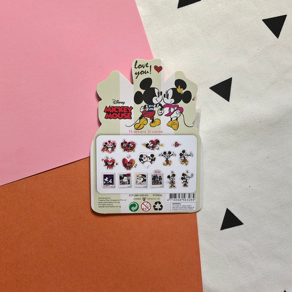 Disney Mickey Mouse Minnie Mouse Flake Stickers