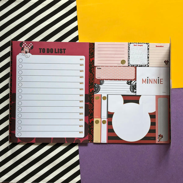 Disney Minnie Mouse Message Sticky Notes & Writing Pad