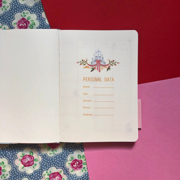 Disney Princess Pink Planner Book & Pen Set