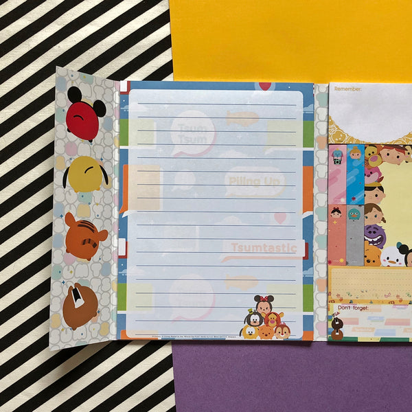 Disney Tsum Tsum Message Sticky Notes & Writing Pad