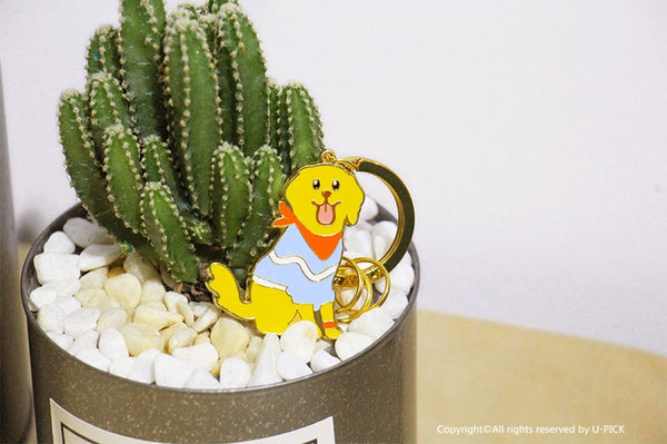 Cute Dog Key Chain By U-Pick Golden Retriever