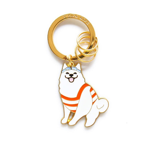 Cute Dog Samoyed Key Chain By U-Pick