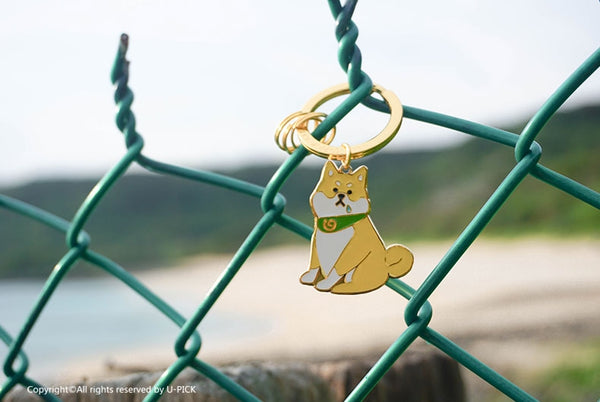 Cute Dog Key Chain By U-Pick Shiba Inu
