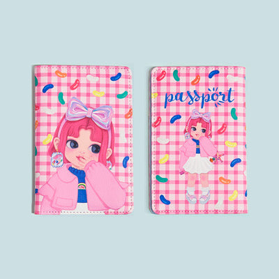 Dolly Girl Pink Candy Passport Cover By Milkjoy
