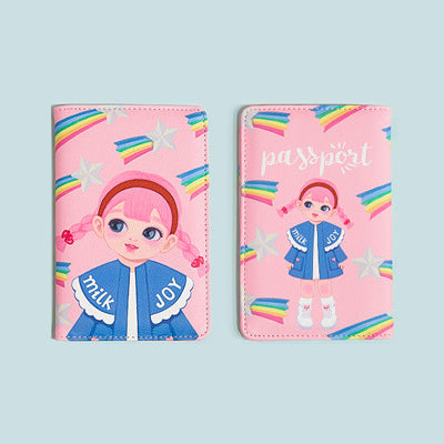Dolly Girl Pink Rainbow Passport Cover By Milkjoy