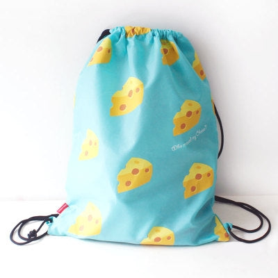 Drawstring [Cheese] Backpack By U-Pick
