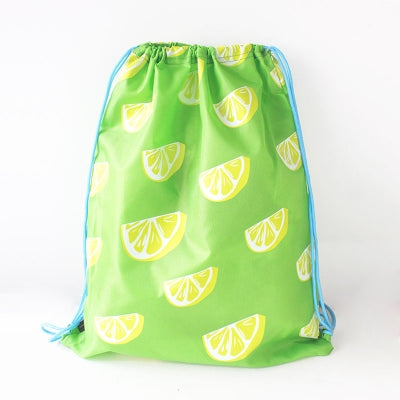 Drawstring [Lemon] Backpack By U-Pick