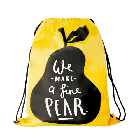 Drawstring [Pear] Backpack By U-Pick