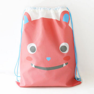 Drawstring [Red Bear] Backpack By U-Pick