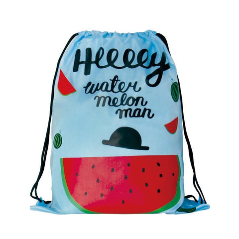 Drawstring [Watermelon] Backpack By U-Pick
