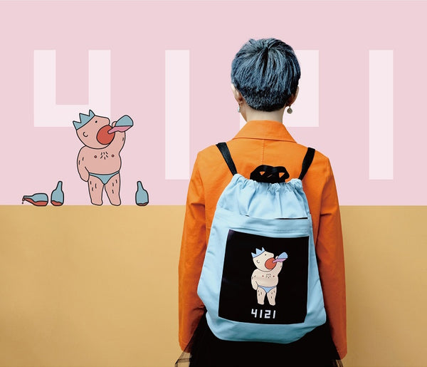 Drinking King Drawstring Backpack By YIZI