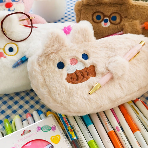 Dudu [Beige Cat] Pencil Case By Milkjoy