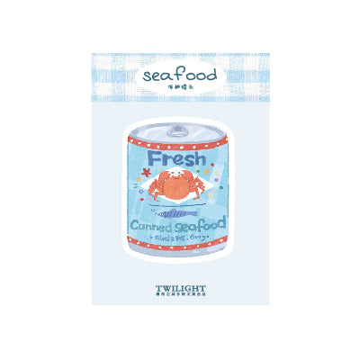 Eat Drink Canned Seafood Sticky Notes