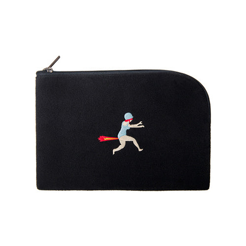 Embroidered Gas Sleeve Pouch By YIZI STORE