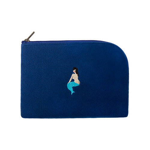 Embroidered Mermaid Sleeve Pouch By YIZI STORE