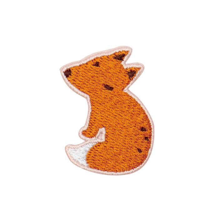 Embroidery Fox Brooch By U-Pick