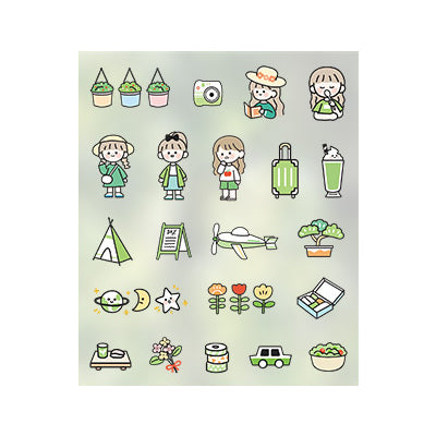 Everyday Life [Green] Stick Me Stickers