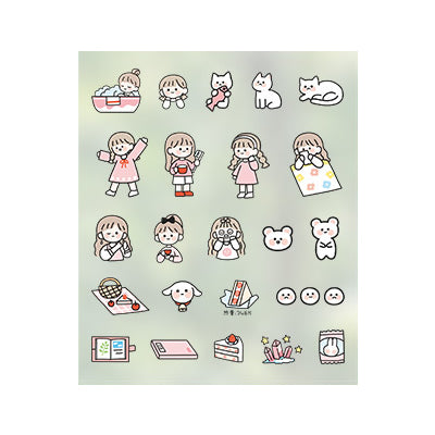 Everyday Life [Pink] Stick Me Stickers