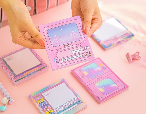 Computer Pink Notepad Memo Pad By Bentoy