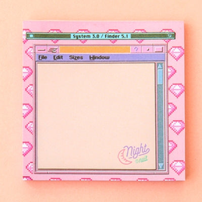 Computer Pink Notepad Memo Pad Blank Page By Bentoy