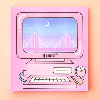 Computer Pink Computer Notepad Memo Pad By Bentoy