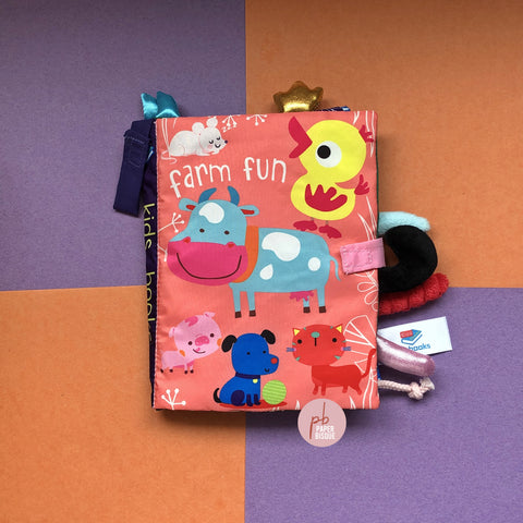 Farm Fun Tail Cloth Baby Book