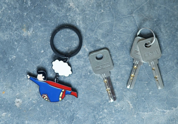 Fat Super Hero Superman Key Chain By HAMO
