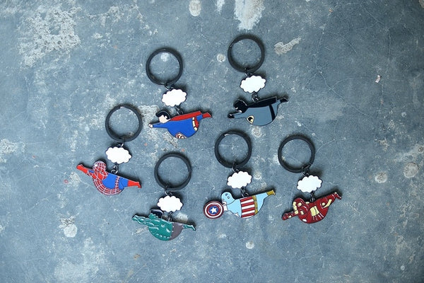 Fat Superhero [Superman] Key Chain By HAMO
