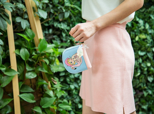 Flamingo Girl Half Moon Pouch By Bentoy