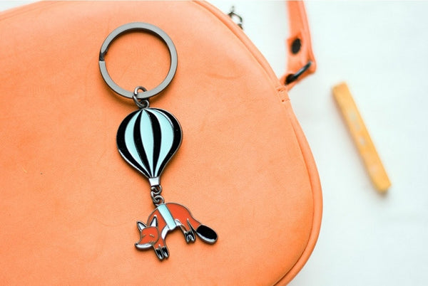 Fox Animal Hot Air Balloon Key Chain By Batu