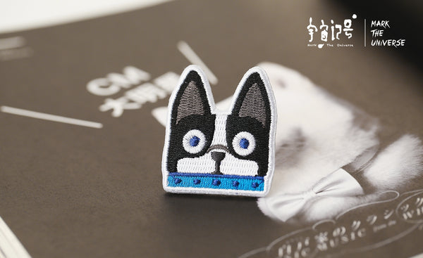 French Bulldog Embroidery Brooch By Mark The Universe
