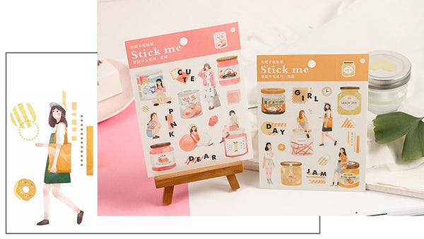 Fruit Jam [Orange] Stick Me Stickers