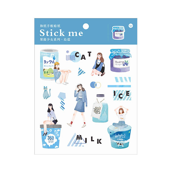 Fruit Jam Blue Stick Me Stickers
