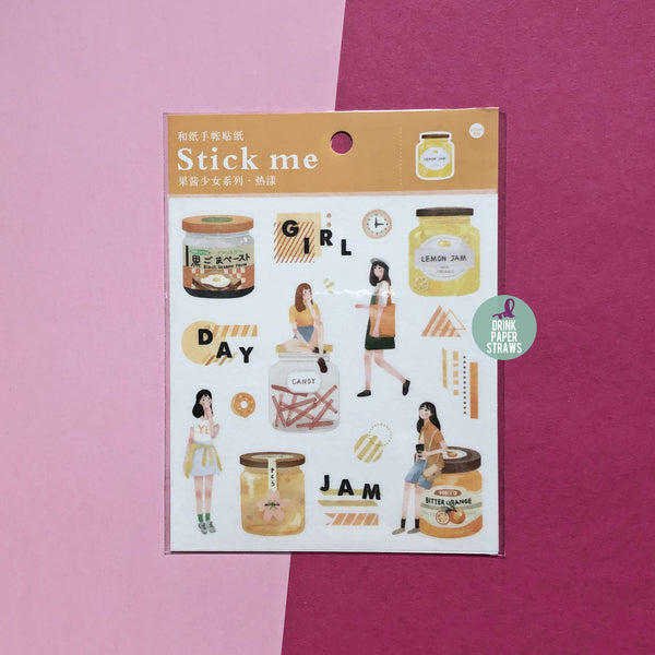 Fruit Jam Orange Stick Me Stickers