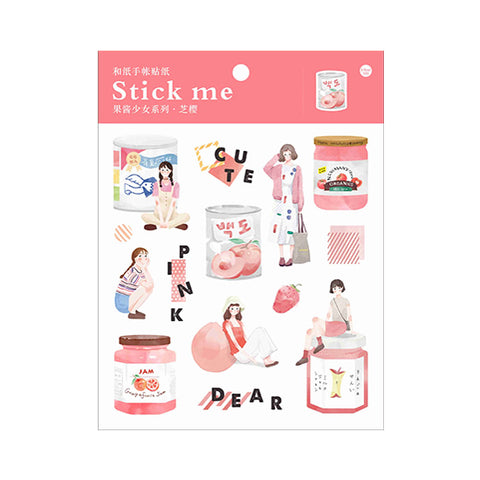 Fruit Jam Pink Stick Me Stickers