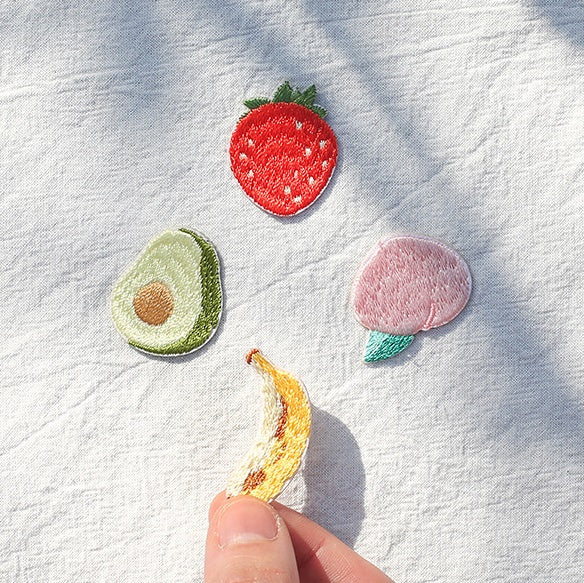 Fruit [Strawberry] Embroidered Sticker Patch