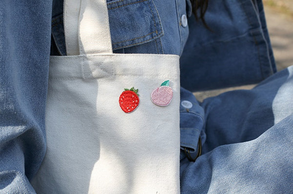 Fruit [Peach] Embroidered Sticker Patch