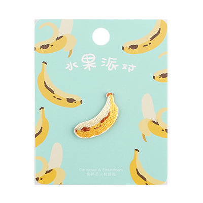 Fruit Banana Embroidered Sticker Patch
