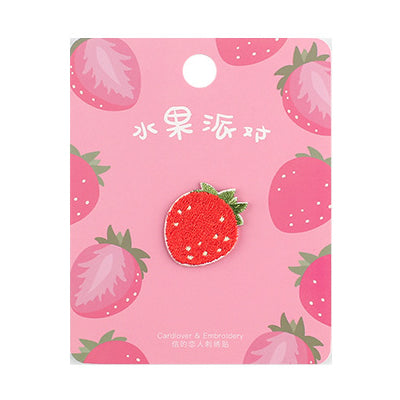 Fruit Strawberry Embroidered Sticker Patch