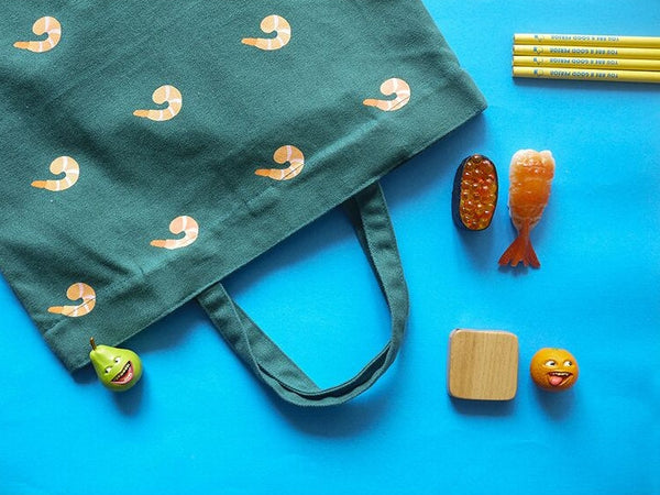 Prawn Fun Food Tote Bag