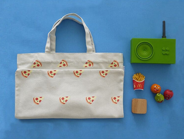 Pizza Fun Food Tote Bag by 小野 (Xao Ye)