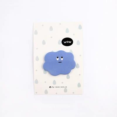 Funny Face Cloud Sticky Notes