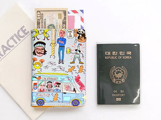 Quirky [Grey] Passport Cover By Bentoy