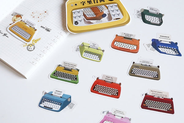 Garden Typewriter Sticker Pack